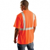 OccuNomix LUX-SSETP2 Class 2 Wicking Safety T-Shirt - Orange