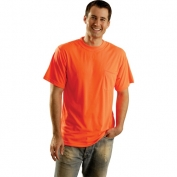 OccuNomix LUX-SSTP0 Non ANSI Wicking Safety T-Shirt - Orange