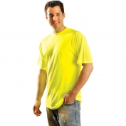 OccuNomix LUX-SSTP0 Non ANSI Wicking Safety T-Shirt - Yellow/Lime