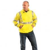 OccuNomix LUX-SWT3FR Class 3 FR Safety Hoodie - Yellow/Lime