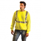 OccuNomix LUX-SWTL Class 2 Lightweight Safety Sweatshirt - Yellow/Lime