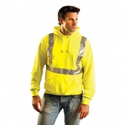 OccuNomix LUX-SWTLH Class 2 Lightweight Safety Hoodie - Yellow/Lime