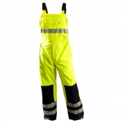 OccuNomix Hi-Viz Rainwear Bib Pants - Yellow/Black