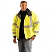 OccuNomix LUX-TJBJ Type R Class 3 Premium 4-In-1 Bomber Jacket - Yellow/Lime