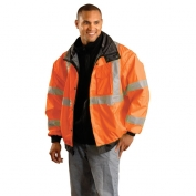 OccuNomix LUX-TJBJ Type R Class 3 Premium 4-In-1 Bomber Jacket - Orange