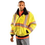 OccuNomix LUX-TJBJ2 Type R Class 3 Premium 4-In-1 Two-Tone Bomber Jacket - Yellow/Lime