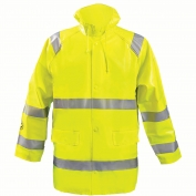 OccuNomix LUX-TJR-FR Flame Resistant Rain Jacket - Yellow/Lime