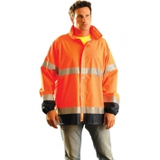 OccuNomix LUX-TJR Type R Class 3 Breathable Rain Jacket - Orange