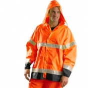 OccuNomix Type R Class 3 Rain Jacket Orange