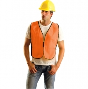 OccuNomix LUX-XNTS Non ANSI Solid Safety Vest - Orange