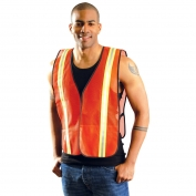 OccuNomix LUX-XTTM Non ANSI Two-Tone Mesh Safety Vest - Orange