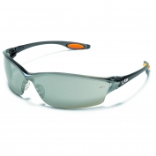 Crews LW217 Law 2 Safety Glasses - Smoke Frame - Silver Mirror Lens