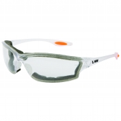 Crews LW310AF Law 3 Safety Glasses - Clear Foam Lined Frame - Clear Anti-Fog Lens