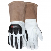 MCR Safety 48406 Premium Grain Goatskin Padded Palm Welding Gloves - TPR Back