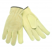 Memphis 3405 Industry Grade Grain Pigskin Leather Driver Gloves - Keystone Thumb - Natural