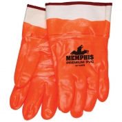 Memphis 6710FS Premium Foam Lined PVC Gloves - Double Dipped - Orange