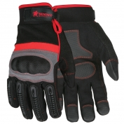 Memphis 912 Multi-Task Gloves - Synthetic Leather Palms with Hard Knuckle Pads