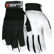 Memphis 914 Multi-Task Gloves - Premium Grain Goatskin Padded Palm - Spandex Back