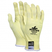 Memphis 93840 Hero Gloves - 13 Gauge Light Weight Kevlar/Stainless Steel/Spandex Fiber - Yellow