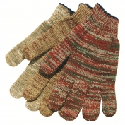 Memphis 9643M Heavy Weight String Knit Gloves - 7 Gauge Cotton/Polyester - Multicolor