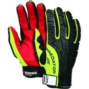 Memphis PD2901 Predator Multi-Task Gloves - PU Coated Synthetic Leather Palm - Tire Tread TPR on Back
