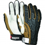 Memphis PD2903 Predator Multi-Task Gloves - Cow Grain Leather Palm - Tire Tread TPR on Back