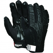 Memphis PD2904 Predator Multi-Task Gloves - Synthetic Leather Palm - Tire Tread TPR on Back