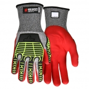 Memphis UT2953 UltraTech Multi-Task Knit Gloves - Padded Synthetic Leather Palm - TPR Padded Back