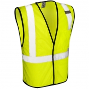 ML Kishigo 1193 Economy Series 1-Pocket Mesh Safety Vest - Yellow/Lime