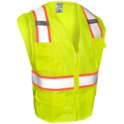 ML Kishigo 1195 Ultra-Cool Mesh 6-Pocket Safety Vest - Yellow/Lime