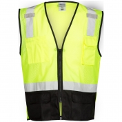 ML Kishigo 1509 Black Bottom Safety Vest - Yellow/Lime