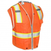 ML Kishigo 1511 Brilliant Series Heavy Duty Safety Vest - Orange