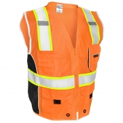 ML Kishigo 1514 Black Series Heavy Duty Safety Vest - Orange