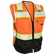 ML Kishigo 1516 Black Series Black Bottom Safety Vest - Orange