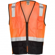 ML Kishigo 1529 Black Bottom Safety Vest - Orange