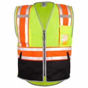 ML Kishigo 1543 Brilliant Series Ultimate Black Bottom Safety Vest - Yellow/Lime