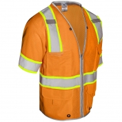 ML Kishigo 1551 Brilliant Series Class 3 Heavy Duty Safety Vest - Orange