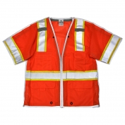 ML Kishigo 1553B Brilliant Series Class 3 Breakaway Safety Vest - Orange