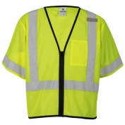 ML Kishigo 1567 Economy Class 3 Single Pocket Zipper Safety Vest - Yellow/Lime