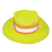 ML Kishigo 2824 Full Brim Safari Hat - Large/XL - Yellow/Lime