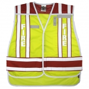 ML Kishigo 4003BV 400 PSV Pro Series Fire Safety Vest - Lime/Red