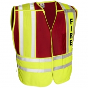 ML Kishigo 8052BV 200 PSV Pro Series Fire Safety Vest - Lime/Red