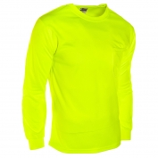 ML Kishigo 9122 Microfiber Long Sleeve T-Shirt - Yellow/Lime