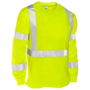 ML Kishigo 9145 Economy Series Class 3 Long Sleeve T-Shirt - Yellow/Lime