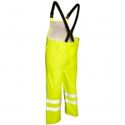 ML Kishigo 9665P Storm Stopper Rain Bib Pants - Yellow/Lime