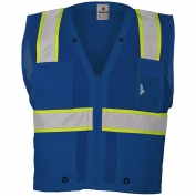 ML Kishigo B102 Enhanced Visibility Multi-Pocket Mesh Vest - Blue