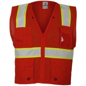 ML Kishigo B103 Enhanced Visibility Multi-Pocket Mesh Vest - Red