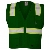 ML Kishigo B104 Enhanced Visibility Multi-Pocket Mesh Vest - Green