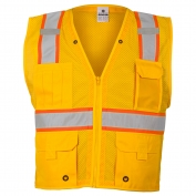 ML Kishigo B106 Enhanced Visibility Multi-Pocket Mesh Vest - Yellow