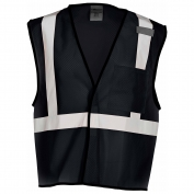 ML Kishigo B120 Enhanced Visibility Mesh Vest - Black